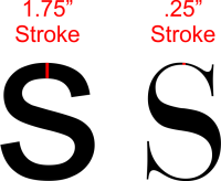 letter stroke