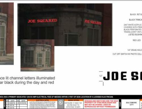 Day-Night Channel Letter Sign: Joe Squared