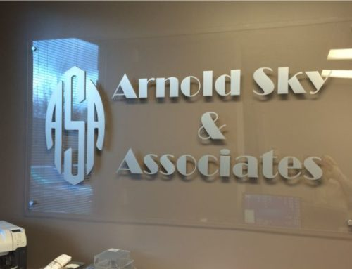 Flat Cut Out Letters Sign for Arnold Sky & Asssociates