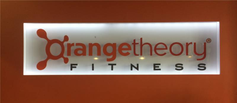 Orangetheory Fitness Interior Sign